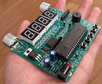 资料齐全的超声波测距学习板