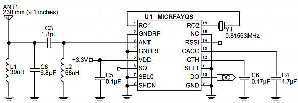 多用途df无线数据收发模块